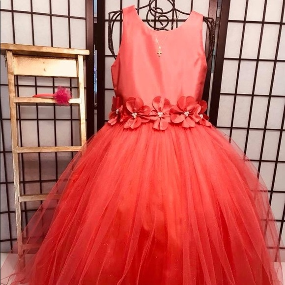 Other - Cecile, Girl Dress Formal  Coral 6/7,